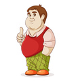 fat man on a white background vector image vector image