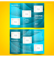 brochure design template waves tfifold vector image