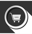 icon - shopping cart cancel with shadow vector image