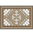 Rug piece of ornament vector image