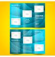 brochure design template waves tfifold vector image