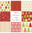 Christmas patterns collection vector image