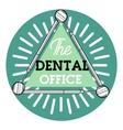 Color vintage dental emblem vector image