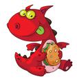 dragon eating vector image