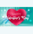 happy valentine s day card with heart vector image