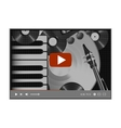 media player with a musical background vector image