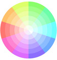palette pastel colors pie chart vector image