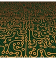 Perspective Circuit Board Image vector image