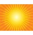 Sun Sunburst Pattern with circles Orange sky vector image