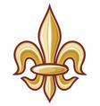 lily flower - heraldic symbol vector image vector image