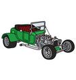 Green hot rod vector image