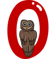 O for owl vector image vector image