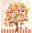 apple trees after rain fall vector image