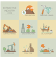 Extractive industry vector image