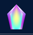 magic glowing crystal vector image