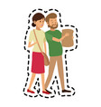 man and woman friends icon image vector image