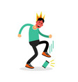 man in a fury kicking his phone vector image