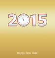 New years eve card vector image