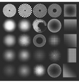 Set of halftones globe vector image