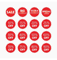 Shopping and retail SALE red tags and stickers set vector image