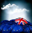 Brexit concept Union jack umbrella between EU vector image
