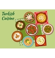 Summer dishes of turkish cuisine icon vector image