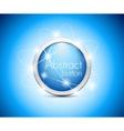 Abstract blue button vector image