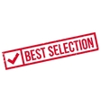 Best Selection rubber stamp vector image vector image