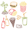 Potatoes design elements vector image vector image