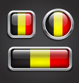 Belgium flag glass buttons vector image vector image