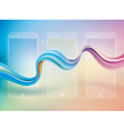 Abstract Curve Background vector image vector image