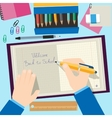 Back to school concept design Background with vector image