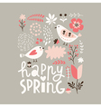 Happy Spring vector image