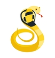 Cobra Snake coiled and ready to strike showing vector image