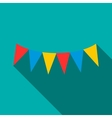 Colorful party flags icon flat style vector image
