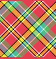 madras diagonal fabric texture pixeled seamless vector image