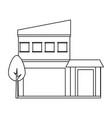 modern houses design vector image