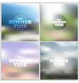 Set of summer time posters web and mobile vector image