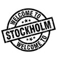 Welcome to stockholm black stamp vector image