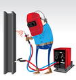 Welder at work vector image