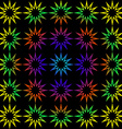 Geometric background of rainbow stars vector image