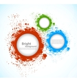 Background with grunge circles vector image vector image