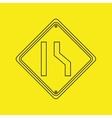 signal traffic yellow icon graphic vector image
