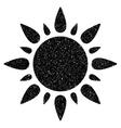Sun Grainy Texture Icon vector image