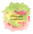 abstract handdrawn colorful watercolor background vector image