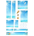 Standard web banners with sunny seascape vector image