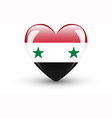 Heart-shaped icon with national flag of Syria vector image vector image