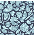 Beautiful floral paisley seamless vector image