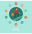 career concept in flat style vector image vector image