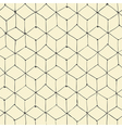 seamless repeating cubes handdrawn pattern vector image